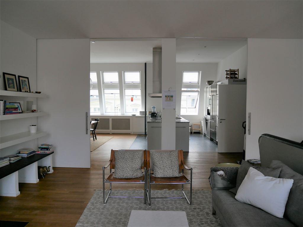 Wohnbereich Blick Küche
